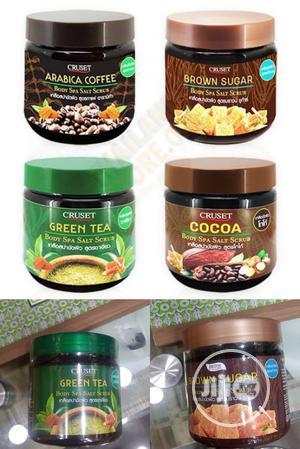 Cruset Brown Sugar, Coffe And Green Tea Spa Salt Scrub. 6pcs | Bath & Body for sale in Lagos State, Amuwo-Odofin