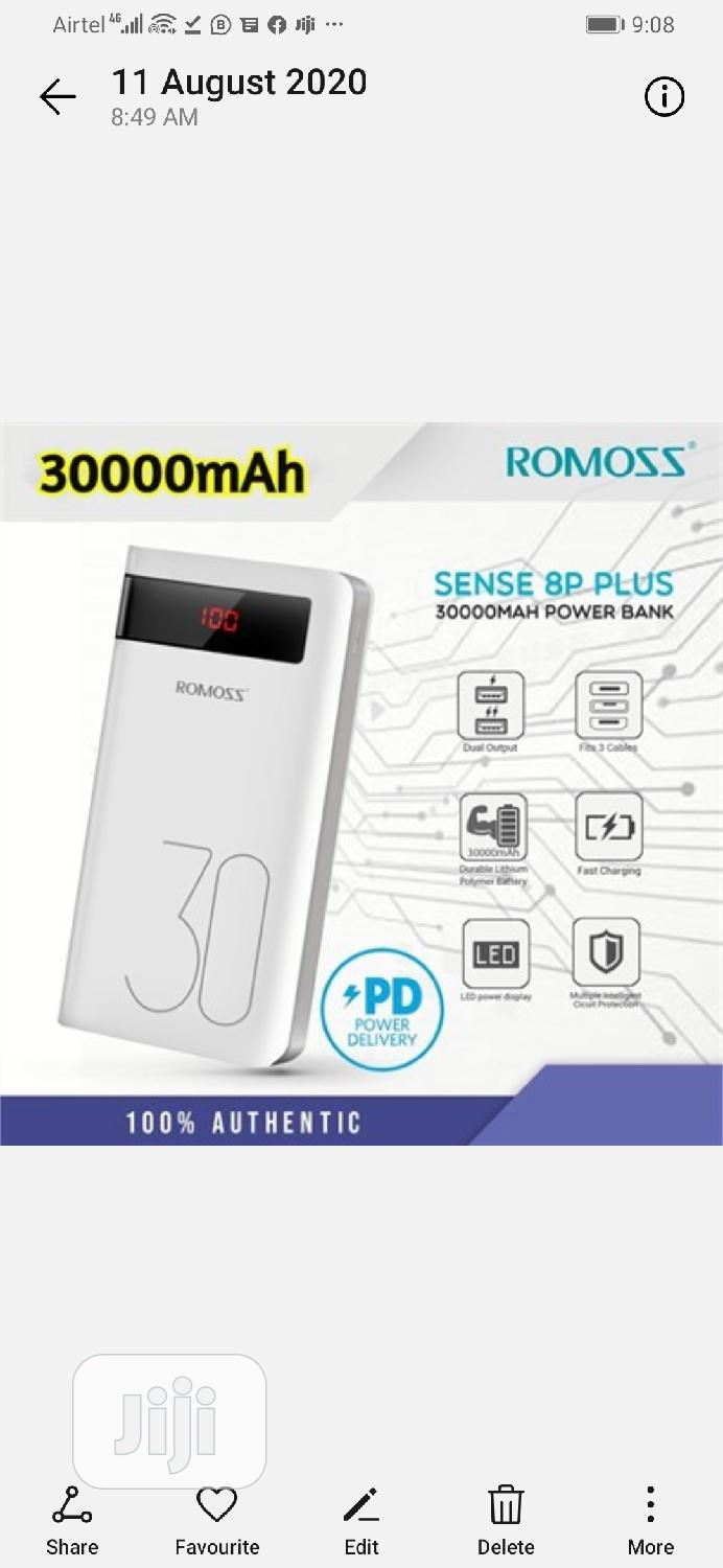 30000mah Romoss Power Bank Sence 8p Plus   Accessories for Mobile Phones & Tablets for sale in Ikeja, Lagos State, Nigeria