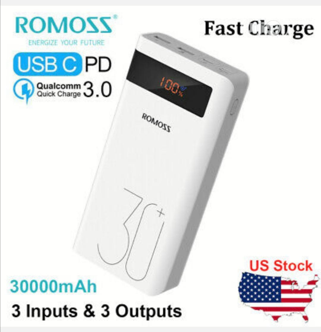 Sence 8p Plus Romoss 30000mah Power Bank | Accessories for Mobile Phones & Tablets for sale in Ikeja, Lagos State, Nigeria