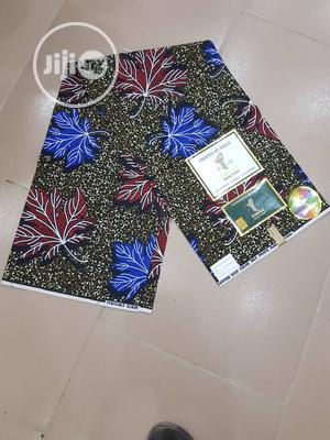100% Cotton Ankara Fabric 6 Yards   Clothing for sale in Lagos State, Ojo