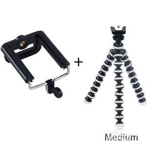 Mini Tripod Bracket Portable Flexible Smartphone Clip Holder   Accessories & Supplies for Electronics for sale in Lagos State, Lagos Island (Eko)