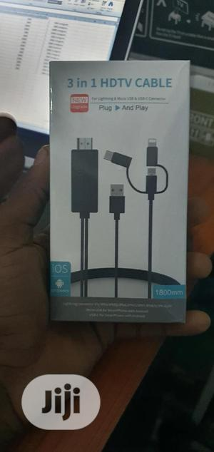 3 In 1 HDMI Cable To Lightning, Micro USB And Type C | Accessories & Supplies for Electronics for sale in Lagos State, Gbagada