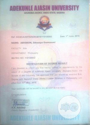 Engr Odunayo Abiodun | Computing & IT CVs for sale in Oyo State, Ibadan
