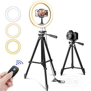 """10"""" Selfie Ring Light With 50"""" Tripod Stand & Phone Holder   Accessories & Supplies for Electronics for sale in Lagos State, Alimosho"""