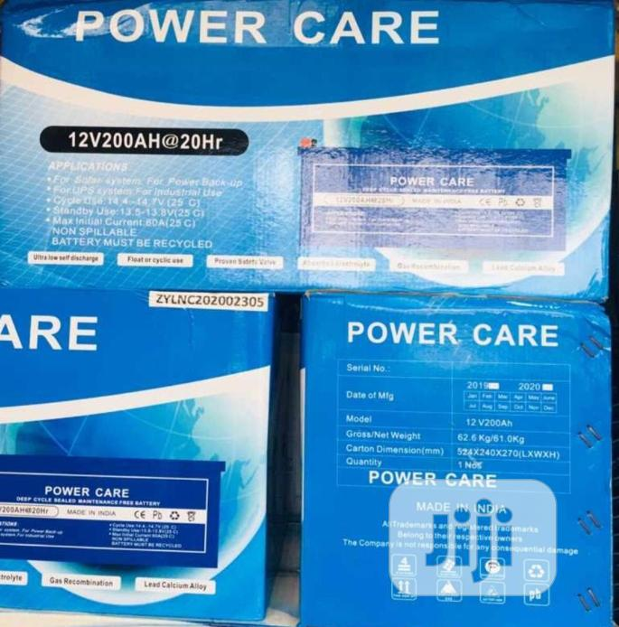 12v 200ah Power Care Battery Available Now In