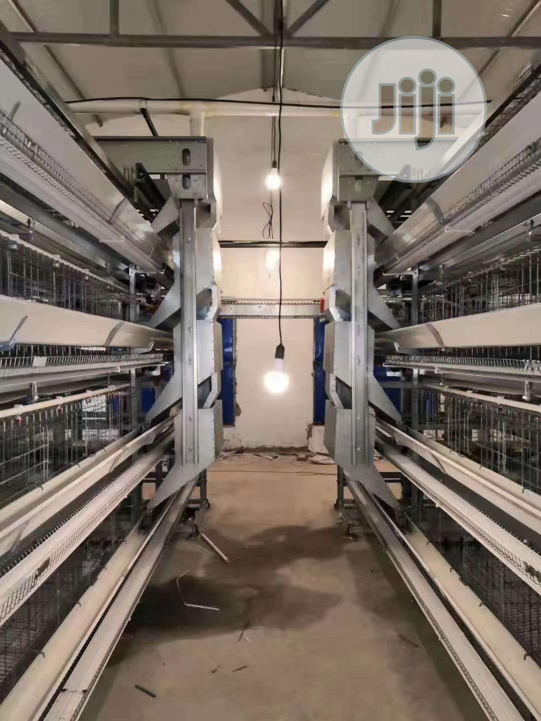 China Factory H Type Automatic Battery Cage Best Quality Cag   Farm Machinery & Equipment for sale in Ifo, Ogun State, Nigeria