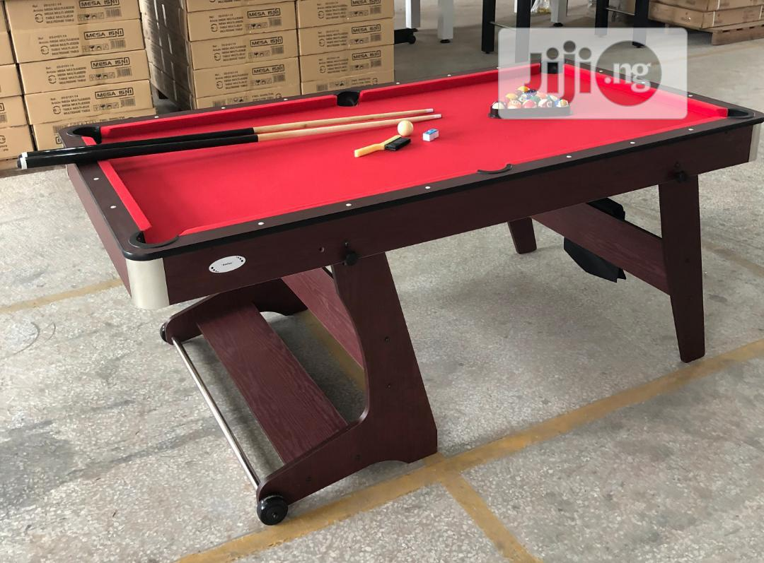Foldable Mobile Snooker Table 6ft