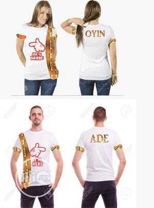 Pre-wedding Bride & Groom T-shirts | Wedding Wear & Accessories for sale in Lagos State, Gbagada