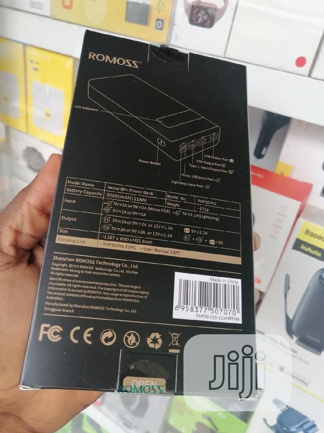Romoss Power Bank 30000mah Sence 8p+   Accessories for Mobile Phones & Tablets for sale in Ikeja, Lagos State, Nigeria