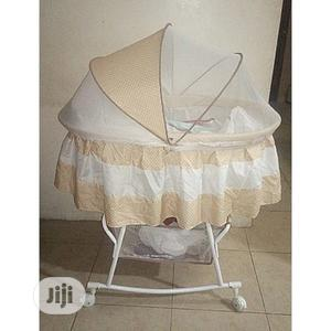 Baby Cot Bassinet Bed With 4 Wheel & Storage | Children's Furniture for sale in Lagos State, Agege