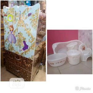 Baby Wooden Wardrobe And Baby Bath Set | Children's Furniture for sale in Lagos State, Agege
