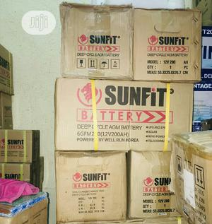 12V 200ah Deep Cycle Battery Sunfit Brand New   Electrical Equipment for sale in Lagos State, Ikeja