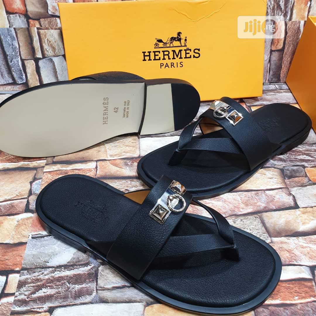 Archive: Designer Herms Palm Slippers