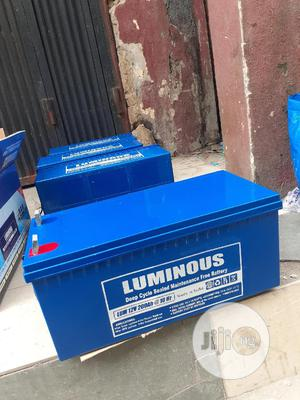 12v 200ah Luminous Battery Available Now   Solar Energy for sale in Lagos State, Ojo