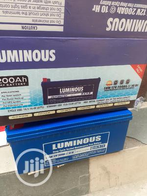 12v 200ah Luminous Battery Available Now In   Solar Energy for sale in Lagos State, Ojo