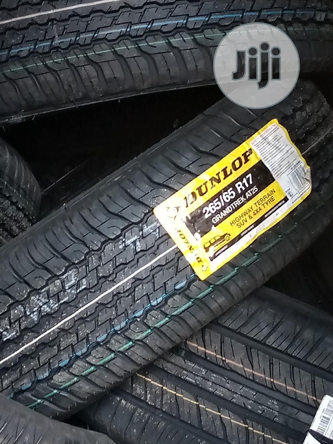 265/65/17 Dunlop Car Tire and Jeep
