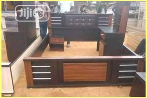 Wooden Bed Frame And Bed Side   Furniture for sale in Lagos State, Agege