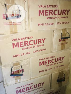 200ah 12v Mercury Battery Available With 1yr Warranty | Solar Energy for sale in Lagos State, Lekki
