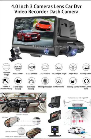 3in1 Car DVR Camera,Video,Recorder for Inside+Front+Rear Cam   Security & Surveillance for sale in Lagos State, Ojo