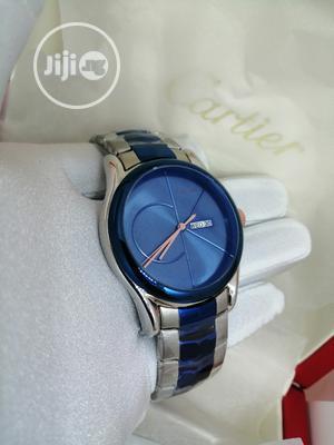 Calvin Klein Blue/Silver Chain Watch | Watches for sale in Lagos State, Lagos Island (Eko)