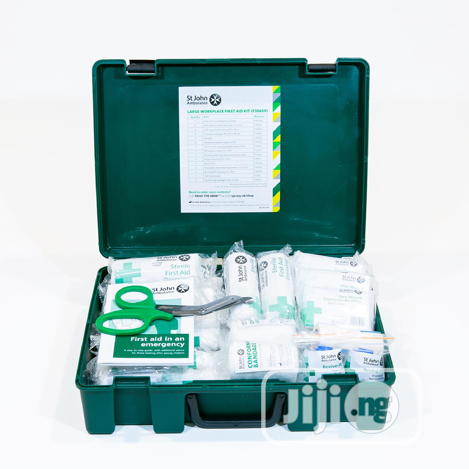 St John Ambulance Fully Equipped Large Sized First Aid Kit | Tools & Accessories for sale in Alimosho, Lagos State, Nigeria