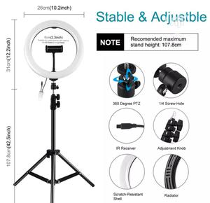"""12"""" LED Ring Light With Tripod Stand Phone Holder 