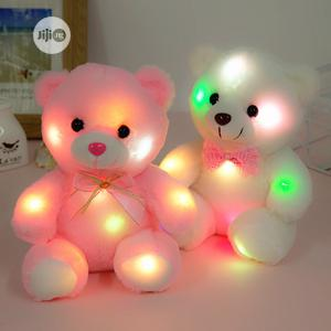 22cm Light Up LED Teddy Bear Plush Toy Doll -Pink   Toys for sale in Lagos State, Ikeja