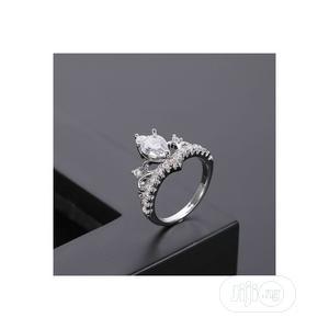 Tiara Crown Silver Zirconia Women Engagement Ring | Wedding Wear & Accessories for sale in Lagos State, Ikeja