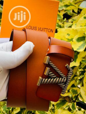Louis Vuitton (LV) Leather Belt For Men's Brown   Clothing Accessories for sale in Lagos State, Lagos Island (Eko)