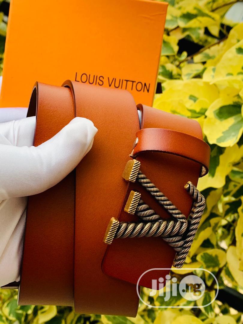 Louis Vuitton (LV) Leather Belt For Men's Brown