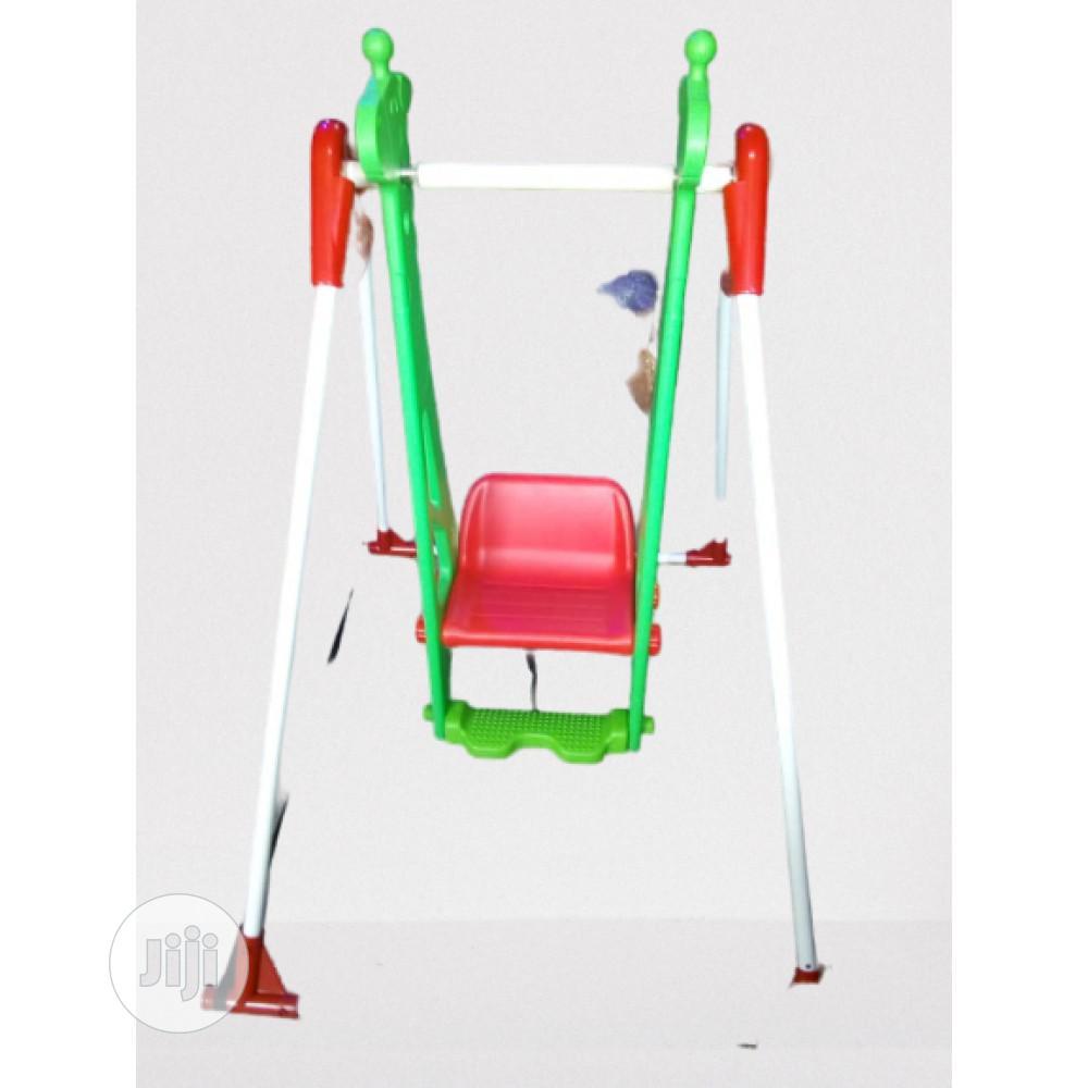 Kids Single Giraffe Swing Plastic Playground Equipment D111