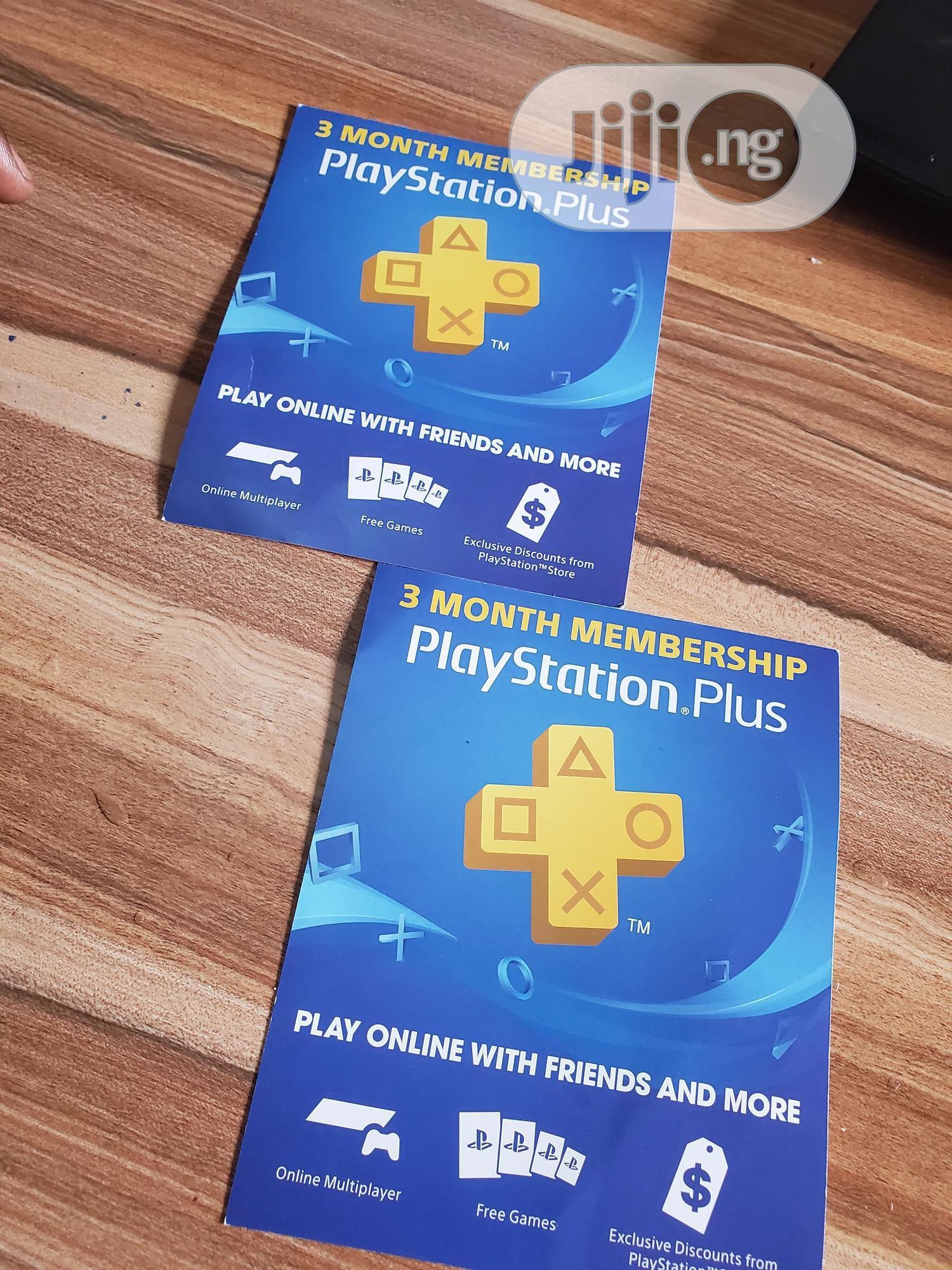 3 Month Membership Playstation Plus Card PSN - USA   Video Games for sale in Ikeja, Lagos State, Nigeria