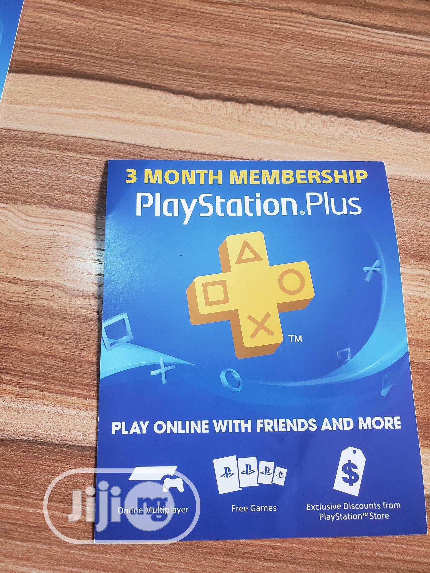 3 Month Membership Playstation Plus Card PSN - USA