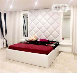 Executive Full Upholstery 6by6ft Bedframe | Furniture for sale in Lagos State, Ikeja
