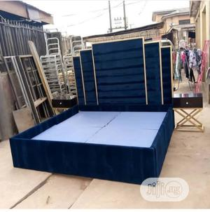Unique Padded 6by6ft Upholstery Bedframe | Furniture for sale in Lagos State, Ikeja