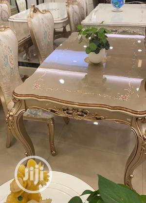 Italian Royal Wooden Dining Table With 6 Chairs | Furniture for sale in Lagos State, Ikeja
