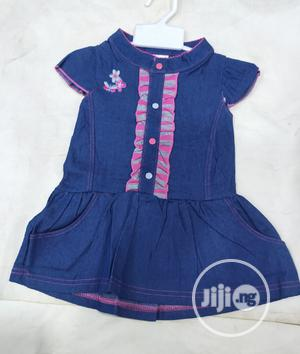 Baby Girl Designer Jean Gown | Children's Clothing for sale in Lagos State, Amuwo-Odofin
