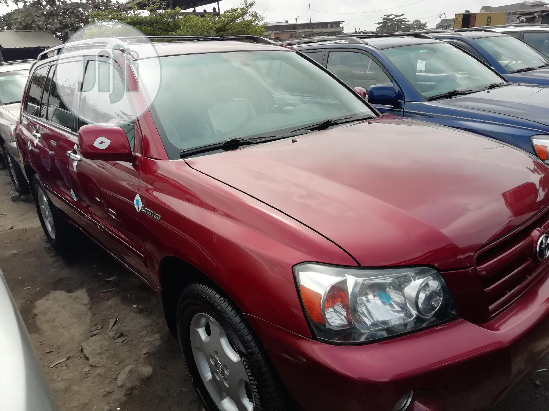 Toyota Highlander 2007 Red