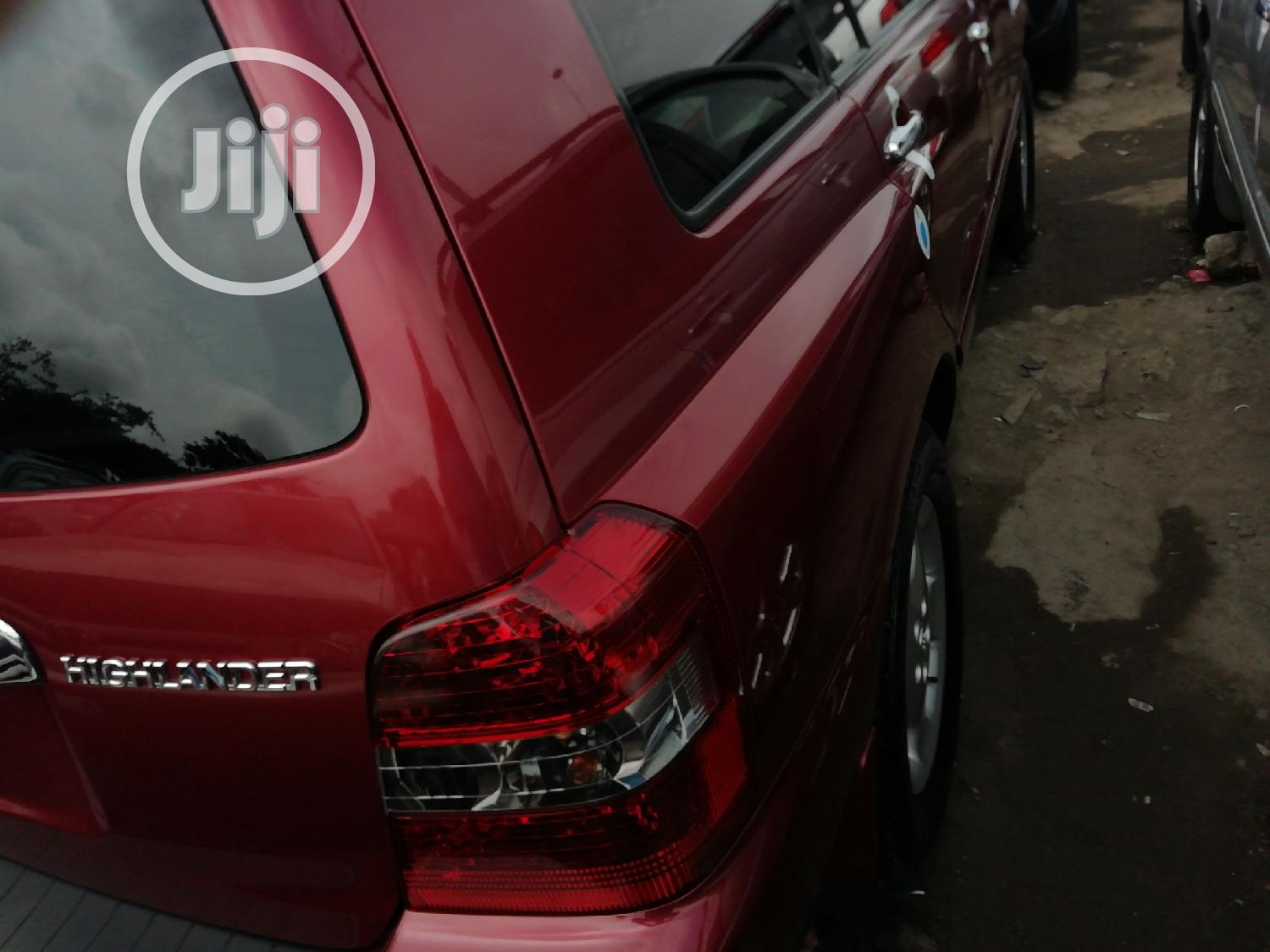 Toyota Highlander 2007 Red   Cars for sale in Apapa, Lagos State, Nigeria