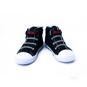 Spiderman Black Lace Up High Top | Children's Shoes for sale in Lagos State, Surulere