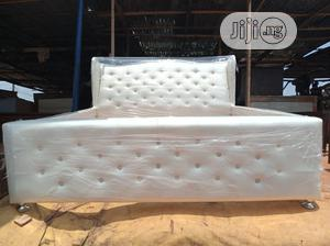 6 by 6 Upholstered BED Frame | Furniture for sale in Lagos State, Amuwo-Odofin