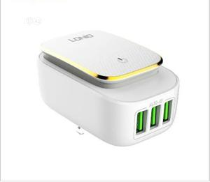 LED Touch Adapter Charger With USB Port Ldnio A4405 | Accessories for Mobile Phones & Tablets for sale in Lagos State, Maryland