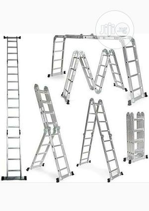 4x4 Foldable Multipurpose Aluminum Ladder | Hand Tools for sale in Lagos State, Ojo