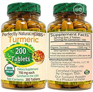 Perfectly Natural Tumeric Capsules | Vitamins & Supplements for sale in Lagos State, Yaba