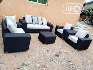 Set of 7 Seaters Sofa Chairs With Ottoman. Fabrics Couches | Furniture for sale in Lagos State, Ajah