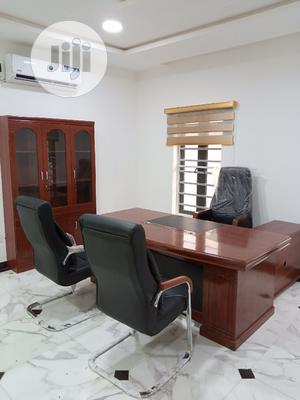MD Executive Office Table and Chairs With Book Shelf   Furniture for sale in Lagos State, Ikeja