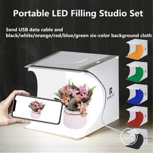 PULUZ 2LED Light Box Mini Photo Studio Box And 6 Backgrounds   Accessories & Supplies for Electronics for sale in Lagos State, Ikeja