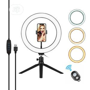 Selfie Ring Light With Tripod & Cell Phone Holder | Accessories & Supplies for Electronics for sale in Lagos State, Ikeja
