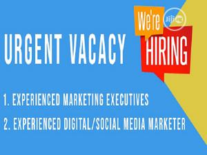 Marketing Executive (FEMALE) And Digital Marketer Needed | Advertising & Marketing Jobs for sale in Lagos State, Ikeja
