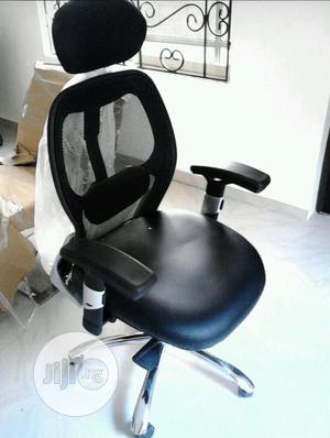 Mesh and Leather Ergonomic Swivel Office Chair | Furniture for sale in Lagos State, Victoria Island
